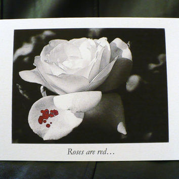 Alternative / Goth - Romantic - Blank Greeting Card w / envelope - Dark Humor - Recycled Paper - IntricateKnot