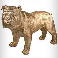 Gilded Bulldog Statue
