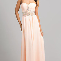 Elegant Strapless Evening Gown