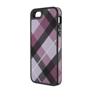 Speck iPhone 5/5S FabShell Case - MegaPlaid Mulberry / Black