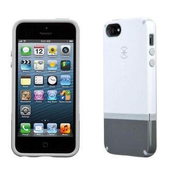 Speck iPhone 5/5S CandyShell Flip - White / Graphite / Pebble