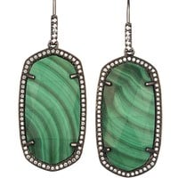 Ellen Drop Earrings in Green Malachite - Kendra Scott Jewelry