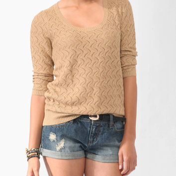 Shimmer Waves Sweater | LOVE21 - 2083315852