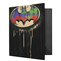 Batman - Twisted Innocence Logo 1 3 Ring Binder from Zazzle.com