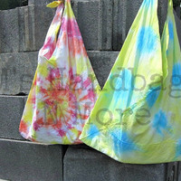 Hand Tie-Dye Pillowcase Bag/Purse/Tote--Summer fun