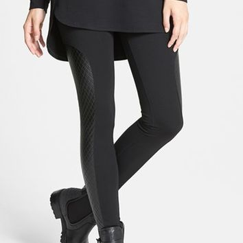 Nordstrom Quilted Panel Ponte Leggings