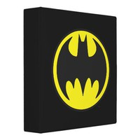 Batman Bat Logo Circle Vinyl Binder from Zazzle.com