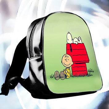 Cute Snoopy Special Custom School Bag