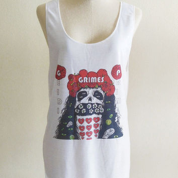 Grimes Geidi Primes Experimental Baroque Pop Dark Wave Dream Pop -- Music Shirt Women Tank Top Vest Tunic Top Sleeveless T-Shirt Size S , M