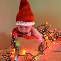 Crocheted Santa Hat for Adult, Child, Toddler, Newborn, FREE SHIPPING