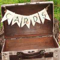 Shabby Chic Wedding Card Box - Suitcase - Favors - Program Box