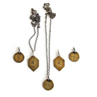 Ogham // Celtic tree alphabet // personalized necklace