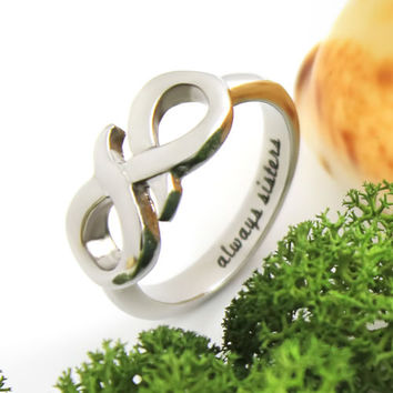 """Infinity Ring, Sisters Ring, Promise Ring for Sister """"Always Sisters"""""""
