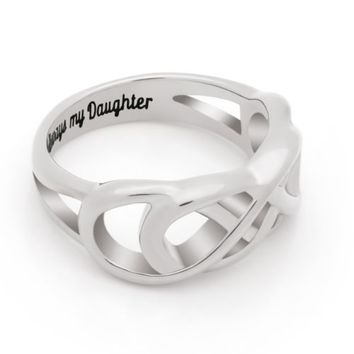 """Double Infinity Daughter Ring, Promise Ring """"Always My Daughter"""""""