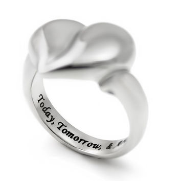Promise Ring, Purity Mother Ring Love Heart Ring Today Tomorrow & Always Best Gift for Loved One