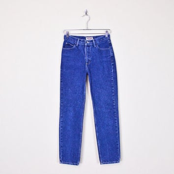 Guess Jeans High Waist Skinny Jeans Skinny High Waist Jeans Skinny Leg Taper Leg Blue 80s Jeans 90s Jeans 90s Grunge 27 28 S Small M Medium
