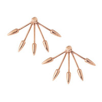 Pamela Love Five-Spike Stud Earrings, Rose Gold