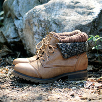 the sweater booties - tan