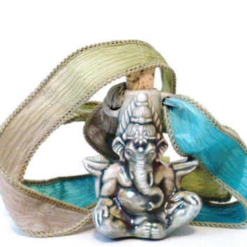 Rear View Mirror Ganesha Car Accessory Elephant Atman Existence Charm Hanger Lord of Success Ganesh Ornament Yoga Christmas Gifts For Her