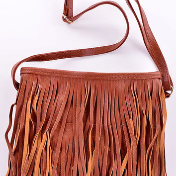 Minnie Fringe Satchel (Tan) from shopoceansoul
