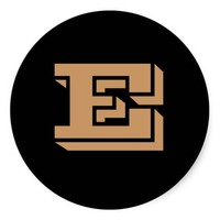 Capital Letter E Large Copper Stickers by Janz