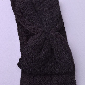 Bow Knit headband (Black)