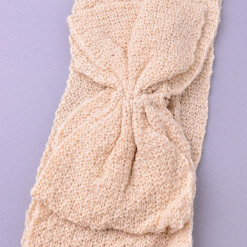 Bow Knit headband (Ivory)