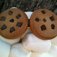 Chocolate chip cookie hair barrette Made to order