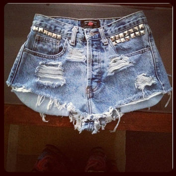 Distressed Insane Vintage Denim Shorts