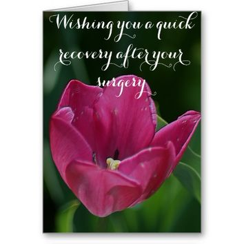 Get Well After Surgery Tulip Card