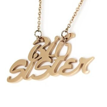 "Big Sister Necklace, Big Sister Pendant, Perfect Sister gift 18"" Chains Included"