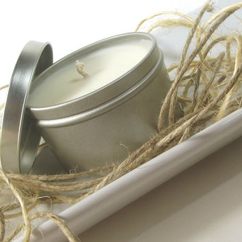 Scented Candle Tin, Malibu Heat scented Soy Candle - Natural Soy Candle -- 8 ounce Tin