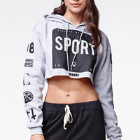 Civil Boy Sport Crop Hoodie - Womens Hoodie - Grey