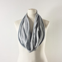 CHROME GRAY Cowl Neck Scarf - Infinity Scarf - Cotton Scarf - Available in Many Colors