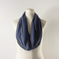 NAVY BLUE Cowl Neck Scarf - Infinity Scarf - Cotton Scarf - Available in Many Colors