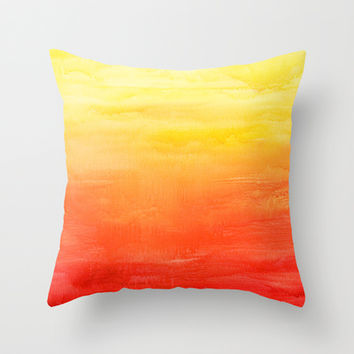 Sunset Throw Pillow by Timone | Society6