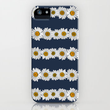 Daisy Chain on Navy iPhone & iPod Case by Tangerine-Tane
