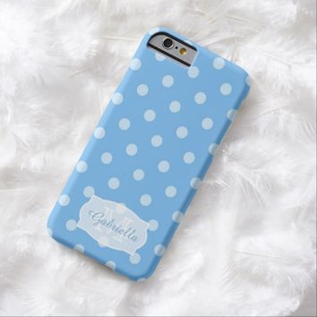 Berry Blue Polka-Dot: Personalized: iPhone 6 case