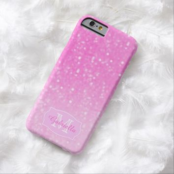 Pink Glimmer: Personalized: iPhone 6 case