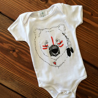Native Bear Child Tee, Bear Shirt, Bear Onesuit, Hipster kids clothes, Child t-shirt, Baby Clothes, Trendy Kids clothes, Christmas gift