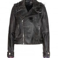 marc by marc jacobs - leather biker jacket