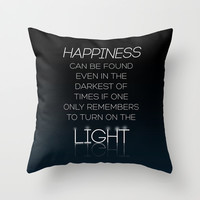 Harry Potter Albus Dumbledore Quote Throw Pillow by Raeuberstochter | Society6
