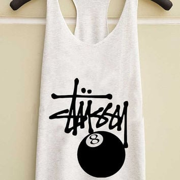 stussy feature the 8 ball  yuppy shop for Tank top Mens and Girls available S - XXL customized