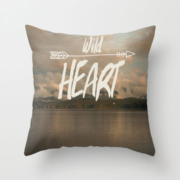 Wild Heart Throw Pillow by The Dreamery