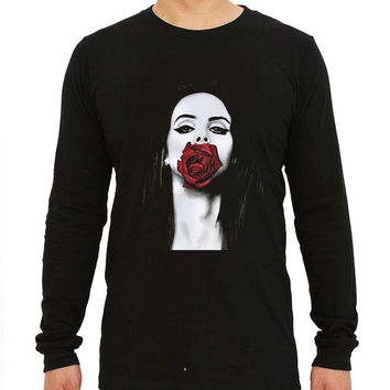 lana del rey rose for long sleeved Mens and long sleeved Girls