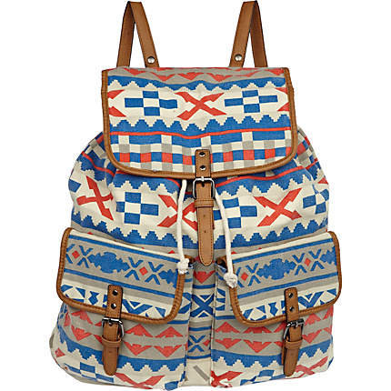 Blue Aztec Backpack