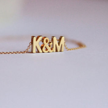 Personalized jewelry,personalized necklace,initial necklace,monogram necklace,3D letter necklace,