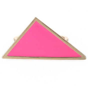 Triangle Desin Double Finger Ring [AKD0324] - $11.50 :
