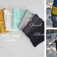 Best Selling Boot Cuffs Available in 9 Colors!