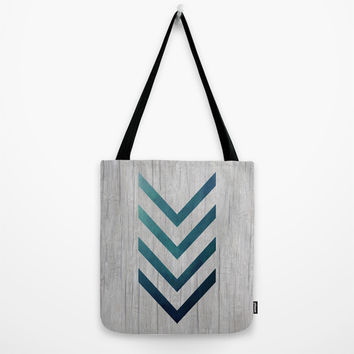 Blue Arrow Tote Bag by LouJah